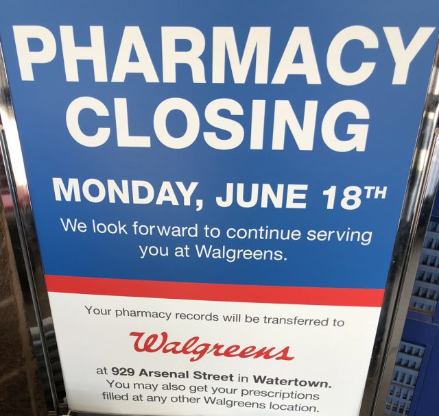 The Other Pharmacy At 315 Arsenal St. Will Close On June 18 And  Prescription Records Will Be Transferred To Walgreens At 929 Arsenal St.