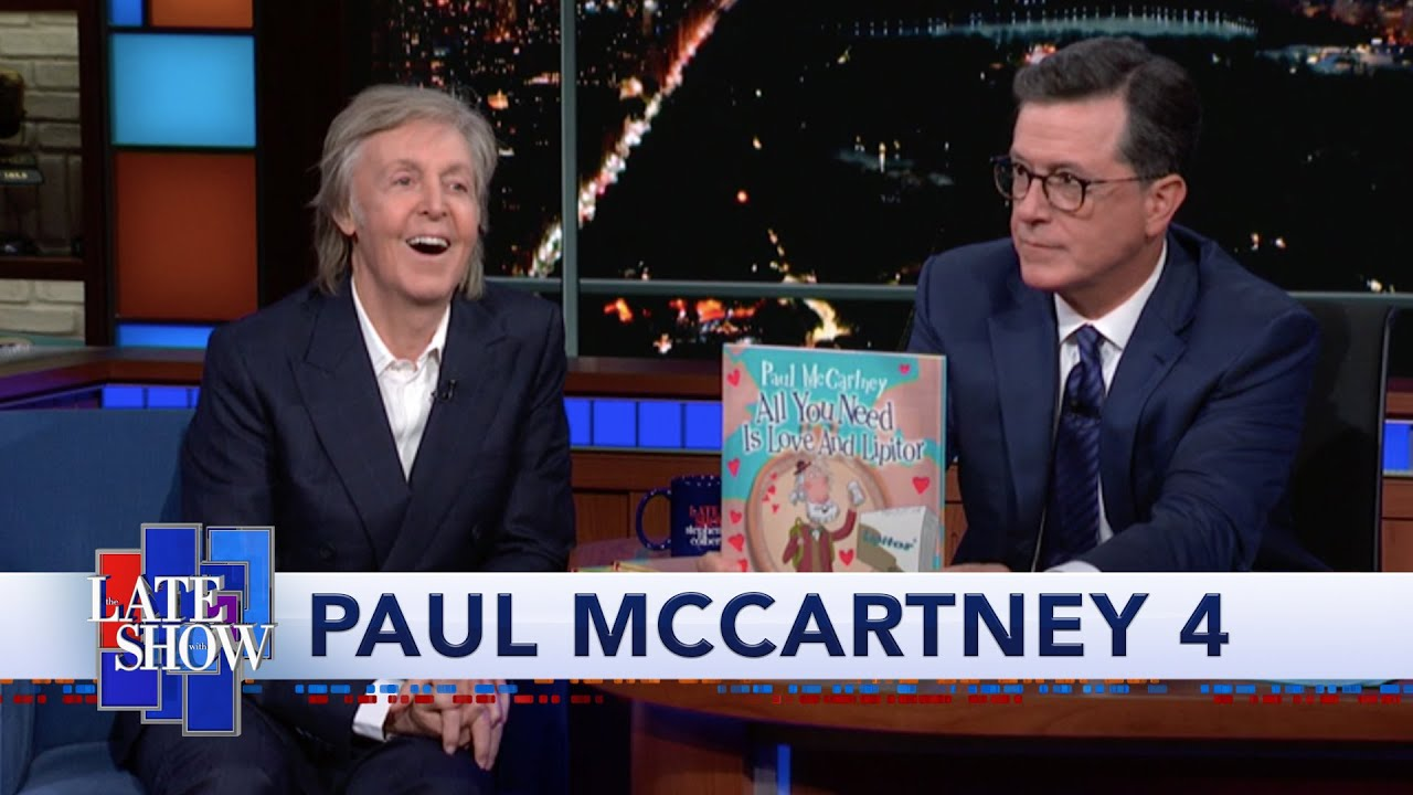 colbert  paul mccartney has a new children u0026 39 s book   u0026quot hey
