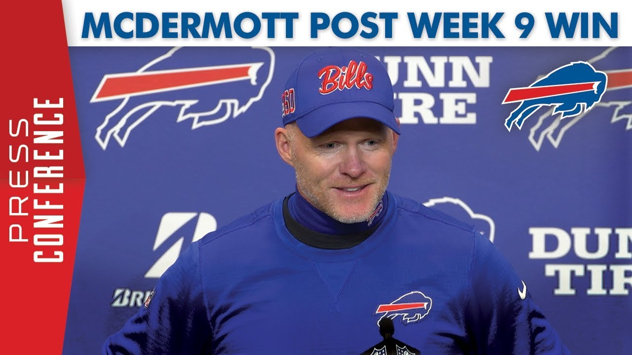 "Bills HC Sean McDermott post week 9 win: ""Build on our ..."