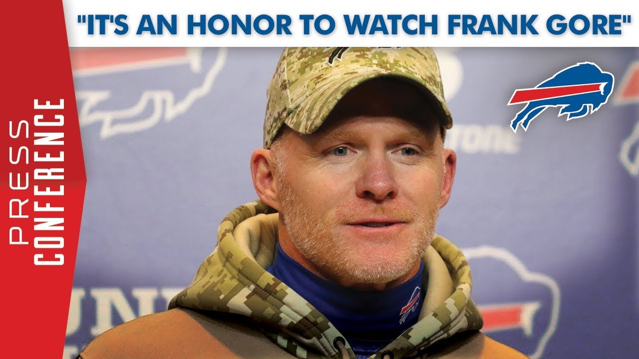 "Sean McDermott: ""It's an honor to watch Frank Gore ..."